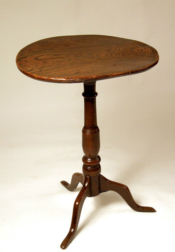 Elm and oak tripod table