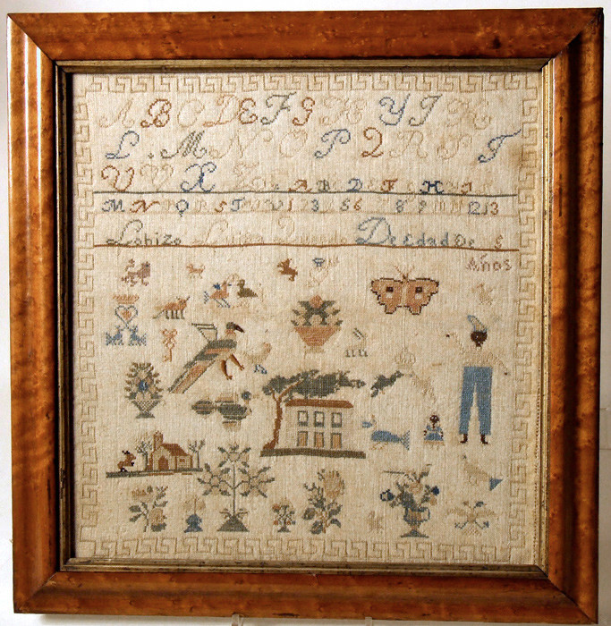 Spanish needlework sampler