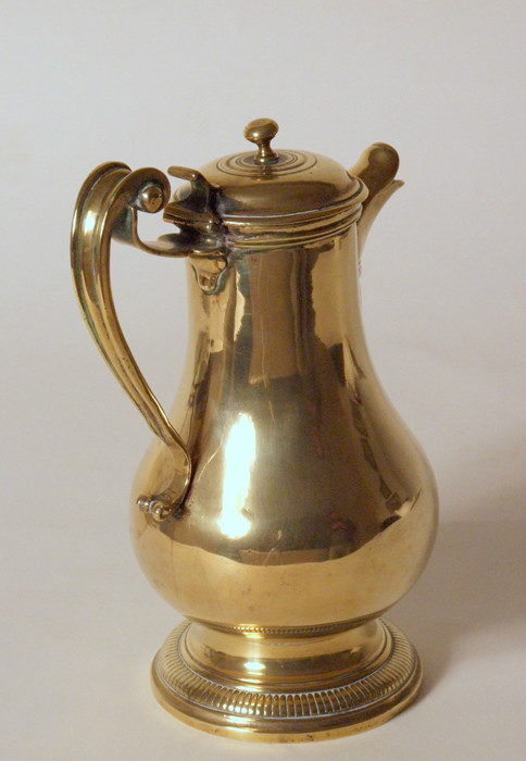 Early 18th century French brass water ewer