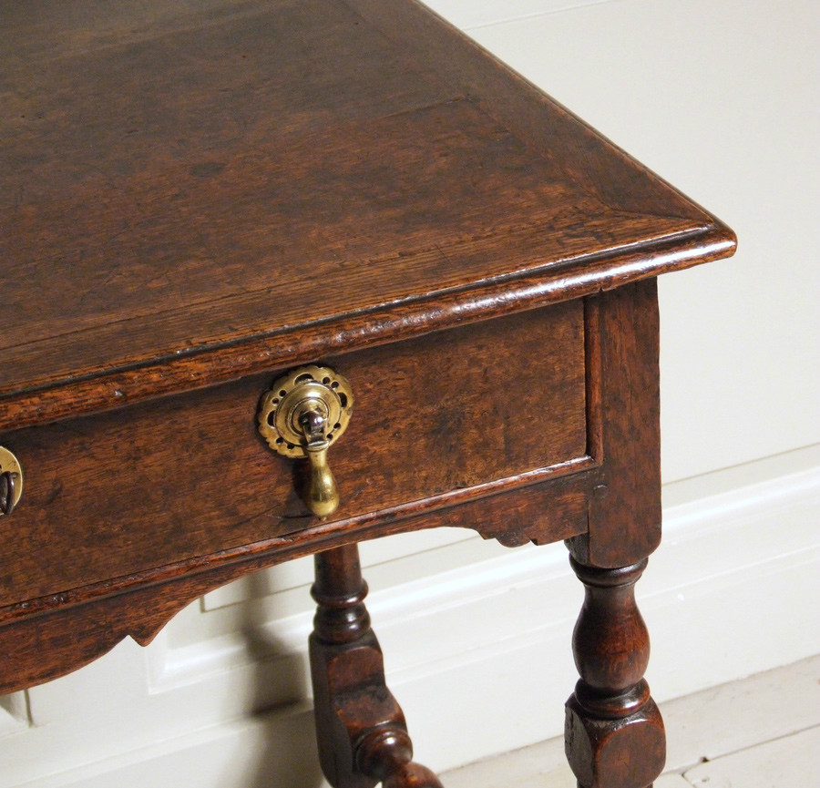 18th century oak side table