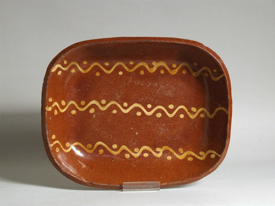 Welsh Buckley pottery slipware pottery dish