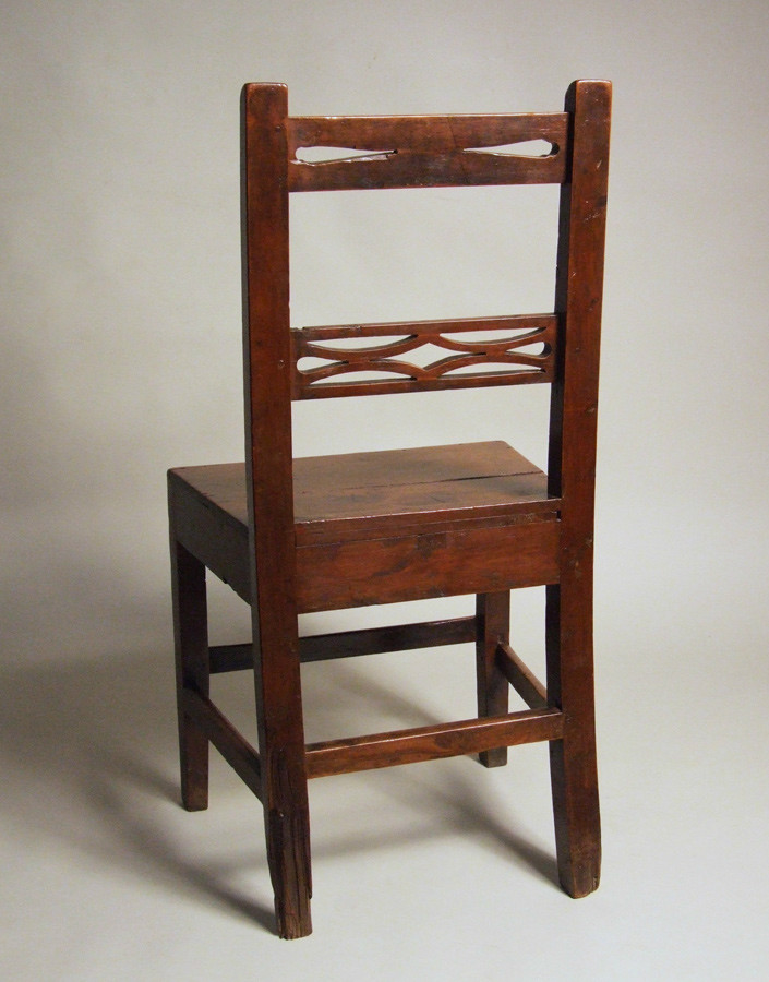 Simple Welsh cedar wood country side chair