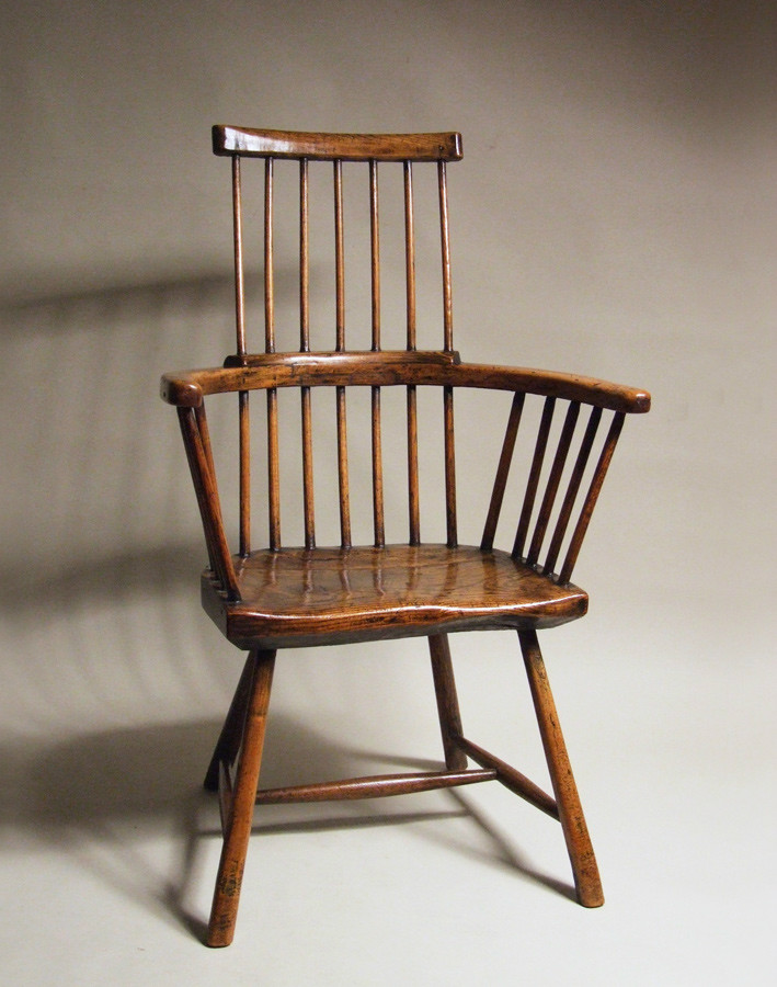English comb-back Windsor armchair