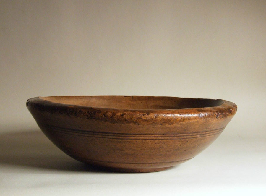 English sycamore dairy bowl