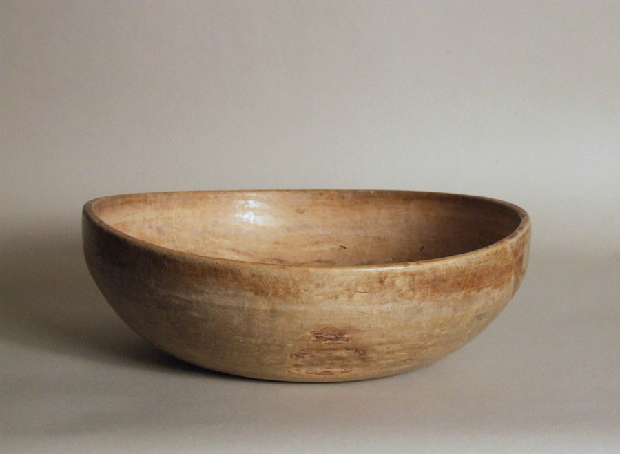 Turned Swedish dairy bowl
