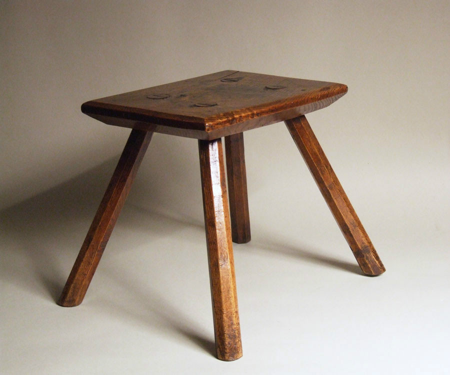 Small ash country stool