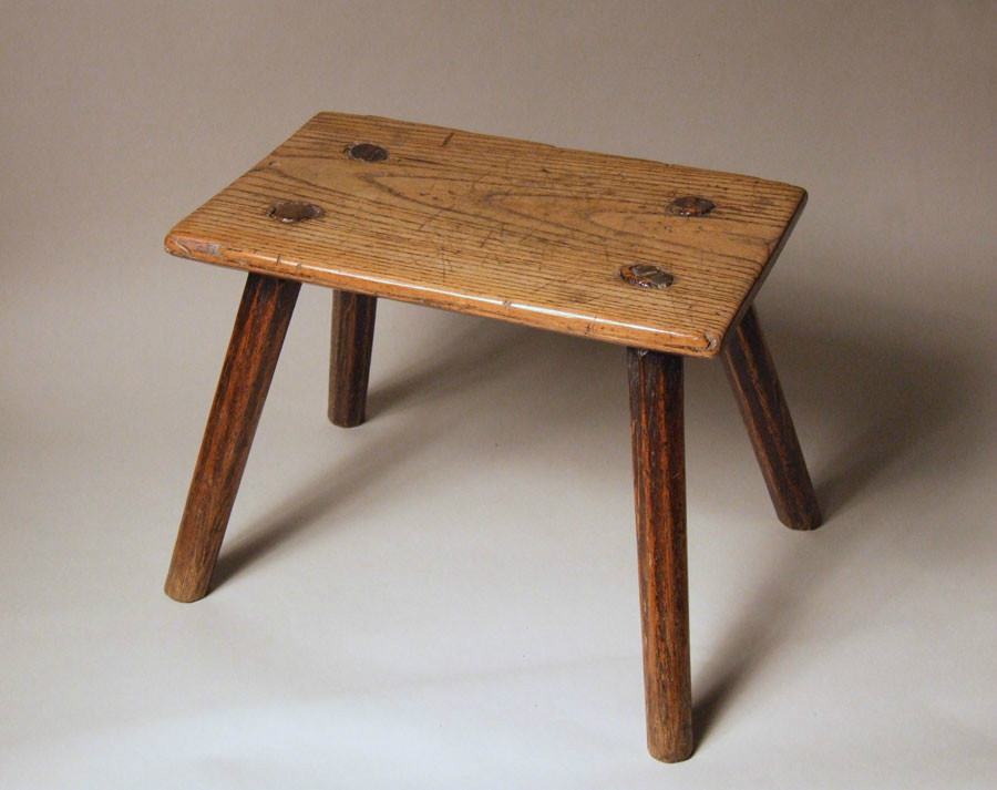 Elm and ash country stool