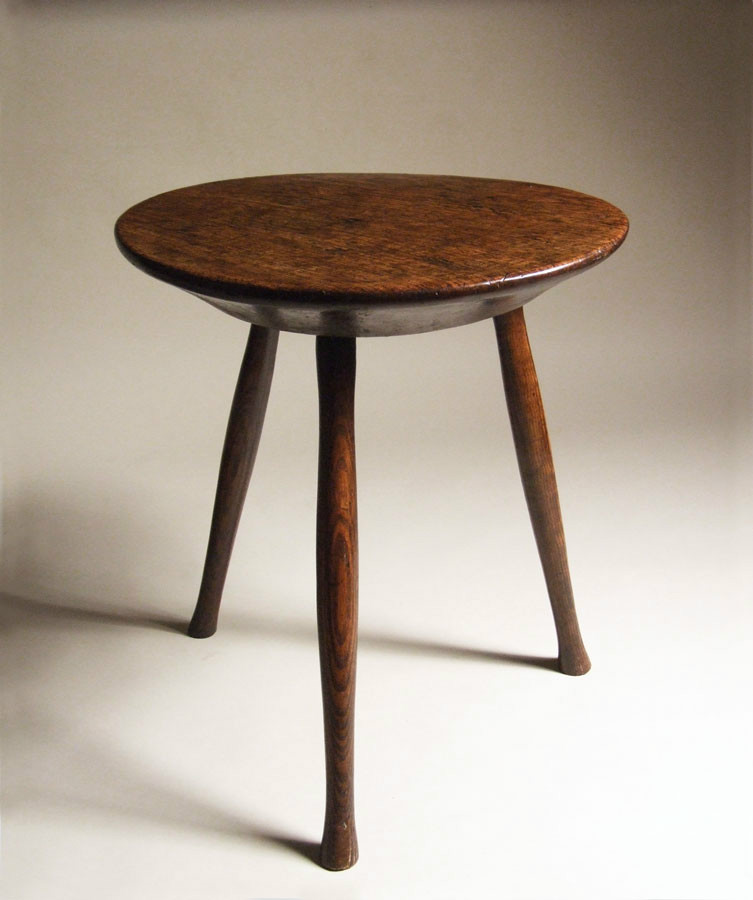 Elm & ash cricket table with thick top